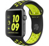 Smartwatch Apple Watch 2 Nike Plus, Retina OLED Capacitive touchscreen 1.5inch, Bluetooth, Wi-Fi, Bratara Silicon 38mm, Carcasa Aluminiu, Rezistent la apa si praf (Negru/Negru/Verde)