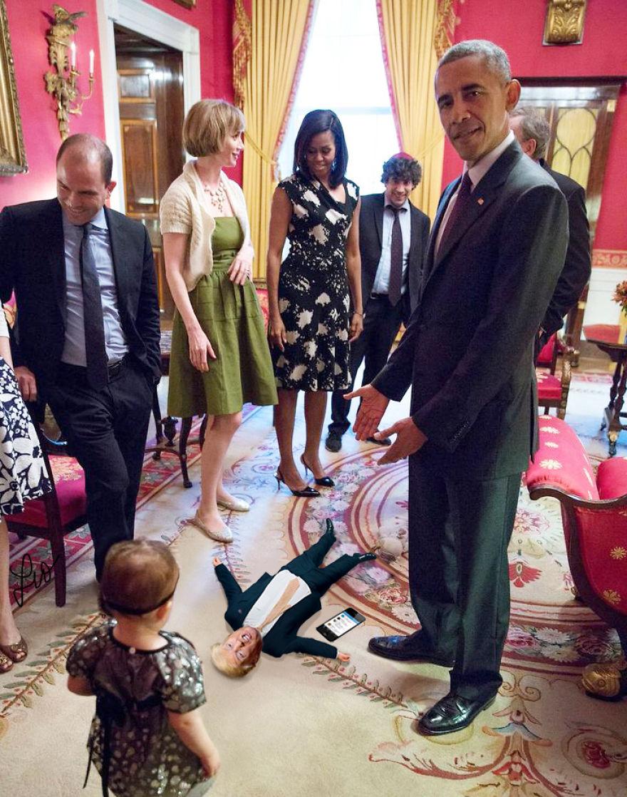 Donald Trump, ridiculizat de internauti, in poze haioase - Poza 13