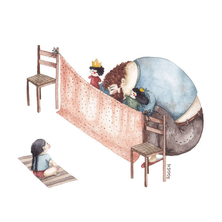 Relatia dintre tata si fiica, in ilustratii emotionante - Poza 5