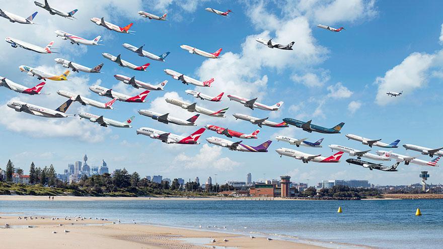 Portrete aeriene: Uimitorul zbor simultan al unor zeci de avioane - Poza 14