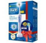 Periuta electrica Oral-B Vitality D12-513 3D White + 2 rezerve EB18-2 Cadou
