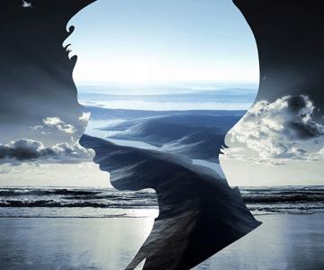 Siluete, peisaje, portrete, colaje, de Aritz Bermudez