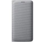 Husa Flip Wallet Samsung pentru Galaxy S6 Edge G925, Textil (Argintie)