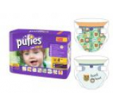 Scutece Pufies Baby Art&Dry Maxi 4, Carry pack, 36 buc, model WANDERING WOODLAND