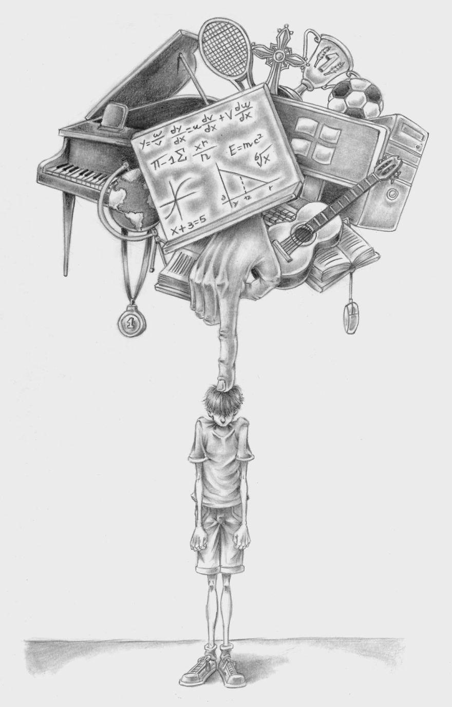 Problemele societatii actuale, in ilustratii rascolitor de sincere - Poza 6