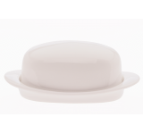 Recipient pentru unt White Basics Coupe Butter Dish Alb, Portelan