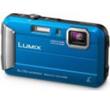 Aparat Foto Digital Panasonic DMC-FT30EP-A, 16.1 MP, 1/2.3inch CCD, Filmare HD, Zoom Optic 4x (Albastru)