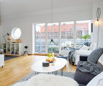 59 mp de eleganta simpla in Suedia