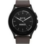 Smartwatch Vector Luna Standard L1-10-005, Bluetooth, Bratara piele, Rezistent la apa si praf (Negru/Maro)