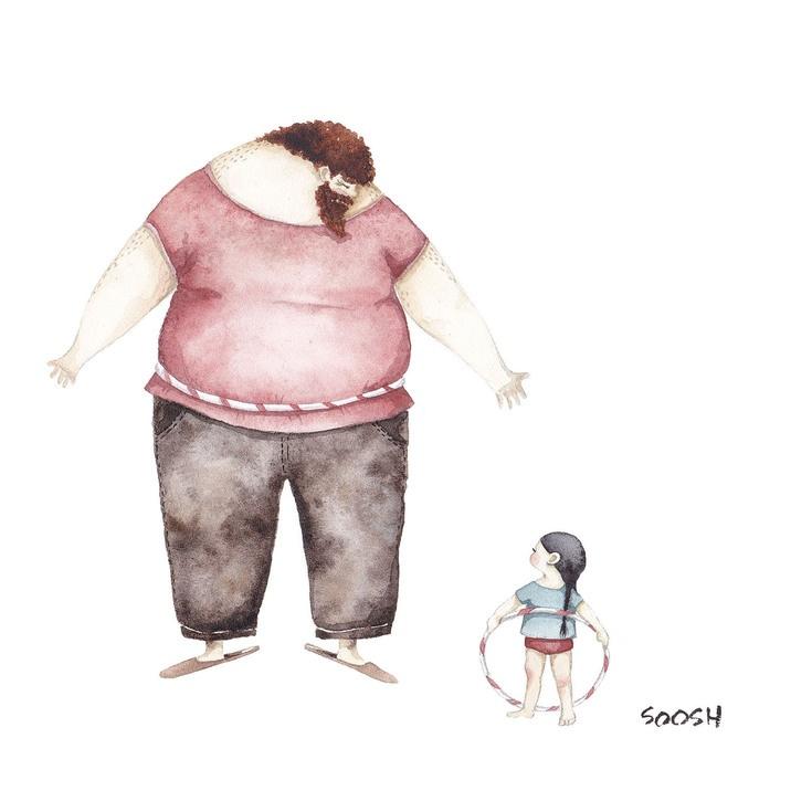 Relatia dintre tata si fiica, in ilustratii emotionante - Poza 3