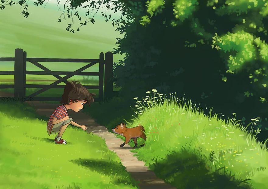 Cele mai frumoase clipe ale copilariei, in ilustratii nostalgice - Poza 4