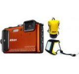 Aparat Foto Digital NIKON COOLPIX AW130 Diving Kit (Portocaliu), Filmare Full HD, 16MP, Zoom Optic 5x, GPS, Wi-Fi, NFC, Rezistent la apa, socuri, praf si frig