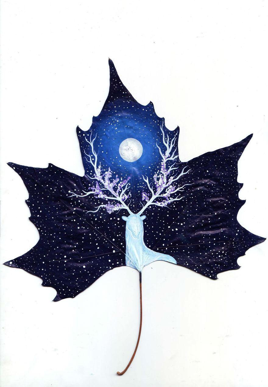 Desene pe frunze cazatoare - Poza 10