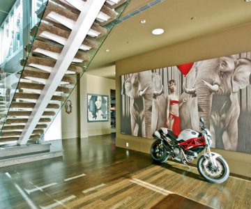 Lux a la Lenny Kravitz: triplex in Soho, New York