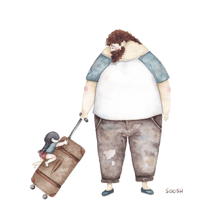Relatia dintre tata si fiica, in ilustratii emotionante - Poza 7