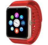 Smartwatch iUni GT08s Plus, Capacitive touchscreen 1.54inch, Procesor Dual-Core 1.2GHz, 128MB RAM, Bluetooth, Bratara silicon, Camera foto, Functie telefon (Rosu)