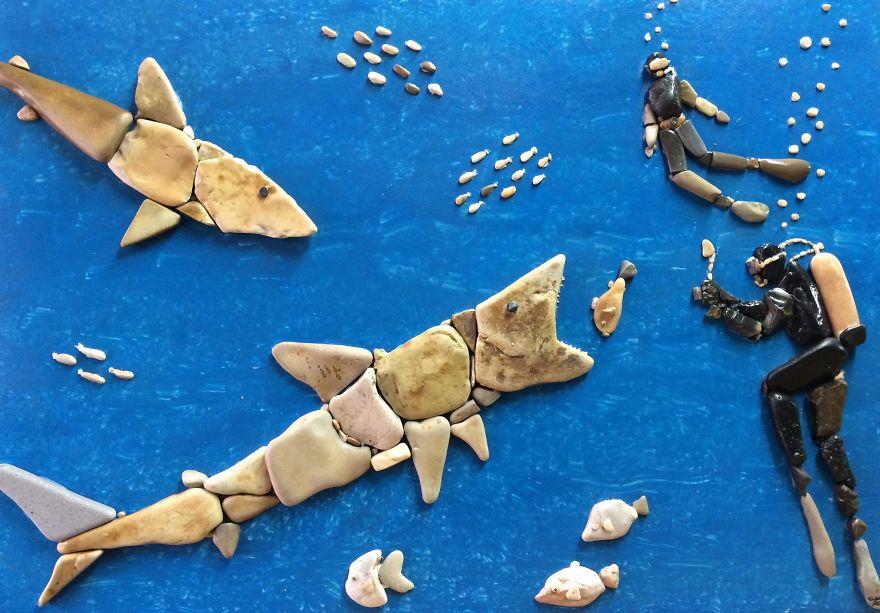 Creatii artistice cu pietre - Poza 16