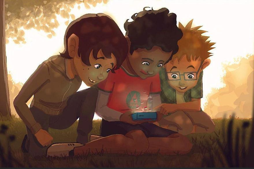 Cele mai frumoase clipe ale copilariei, in ilustratii nostalgice - Poza 15