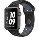 Smartwatch Apple Watch 2 Nike Plus, Retina OLED Capacitive touchscreen 1.5inch, Bluetooth, Wi-Fi, Bratara Silicon 38mm, Carcasa Aluminiu, Rezistent la apa si praf (Negru/Negru/Gri)