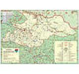 Harta Judetul Maramures (sipci de plastic)