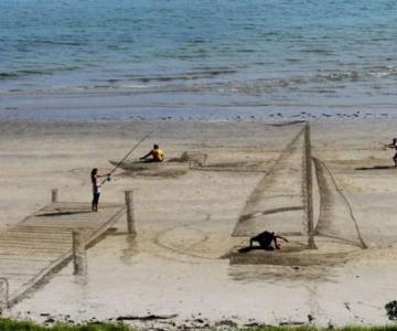 Picturi 3D pe nisip, de Jamie Harkins