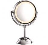 Oglinda cosmetica iluminata BaByliss 8438E, 20.5 cm, Alb