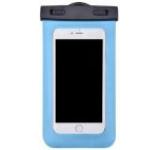 Husa Waterproof Devia DVWPBBL pentru telefoane pana la 5.5inch, cu adaptor audio 3.5mm, armband si agatatoare (Albastru)
