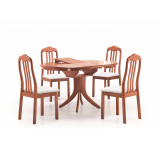 Set Masa din lemn Leroy + 4 scaune K38