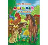 Animale de la ferma - carte de colorat