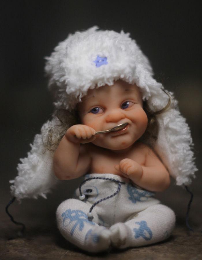 Papusi realiste superbe, de Elena Kirilenko - Poza 11
