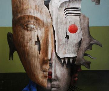 Mastile de sub masca, pictate de Fabien Delaube