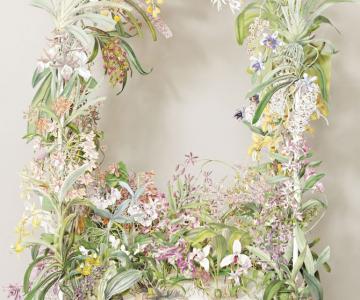 Coronite de flori din hartie, de Su Blackwell