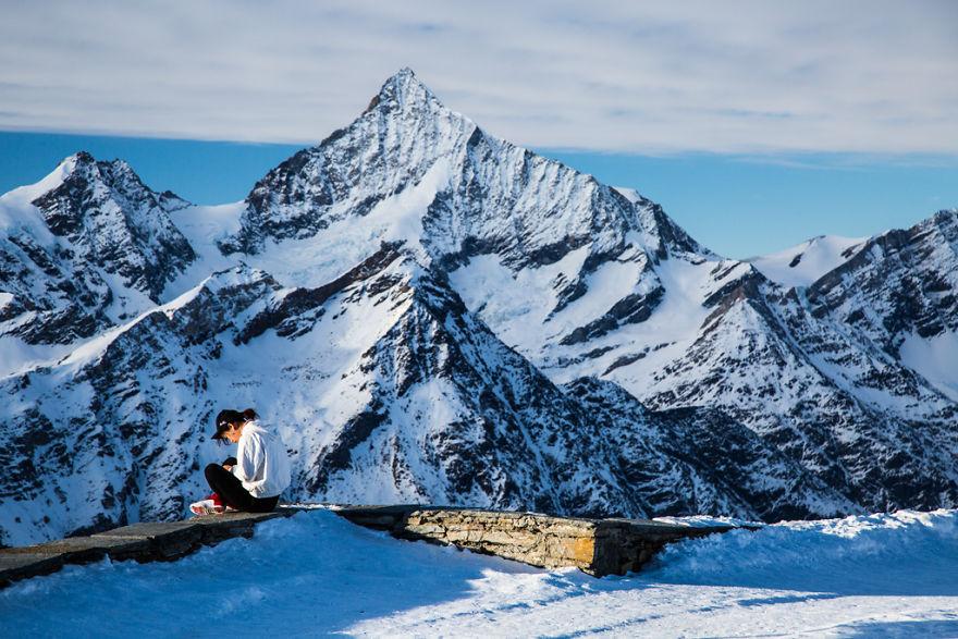 Maretia Alpilor pe timp de iarna - Poza 6