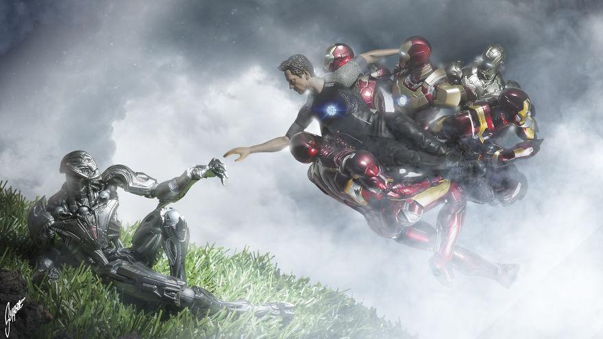 Istoria artei cu supereroi Marvel - Poza 1