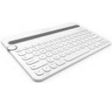 Tastatura Bluetooth Logitech K480 ideala pentru PC, smartphone sau tableta (Alba)