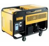 Generator Curent Electric Kipor KDE 12 EA, 9.5 kVA, Motor 2 cilindrii in V, 4 timpi, aspiratie, cadru deschis, Diesel, Autonomie 6.5 ore