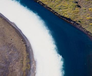 Peisaje islandeze fotografiate din varf de aripa