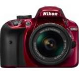 Aparat Foto D-SLR NIKON D3400, Obiectiv 18-55mm VR, Filmare Full HD, 24.2 MP (Rosu)
