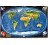 Harta panoramica a lumii cu relief oceanic