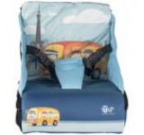 Inaltator scaun auto/Geanta compartimente CCBB-1323 (Albastru-Portocaliu)