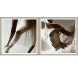 Tablou 2 piese Framed Art Ballet Dancers