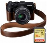 Aparat Foto Mirrorless Canon EOS M3 Premium Kit EF-M 18-55, 24 MP, Filmare Full HD (Negru)
