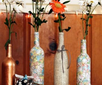15 Moduri de a reutiliza sticlele de vin