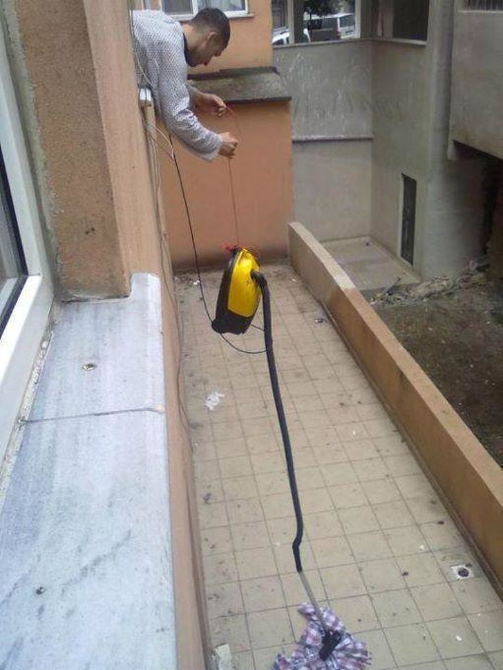 Solutii geniale ale oamenilor lenesi, in imagini amuzante - Poza 9