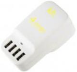 Incarcator retea Kit USBMC6INTWH, cu adaptor universal UK, EU, US, 4 USB, 6.8A (Alb)