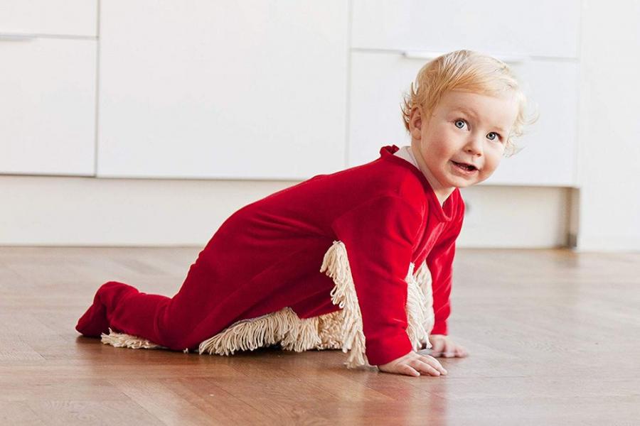 Body-ul cu mop, inventia care schimba viata proaspetelor mamici - Poza 1