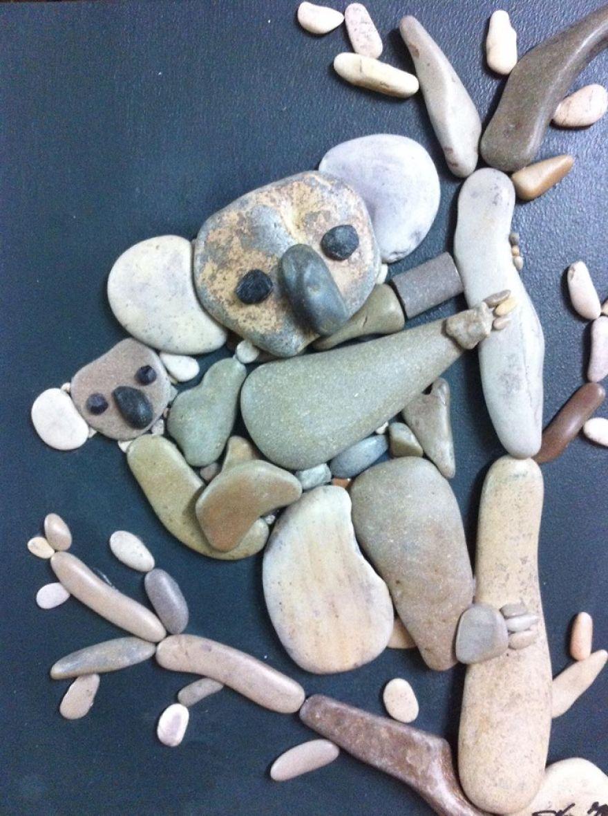 Creatii artistice cu pietre - Poza 11