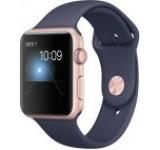 Smartwatch Apple Watch 2 Sport, Retina OLED Capacitive touchscreen 1.65inch, Bluetooth, Wi-Fi, Bratara Silicon 42mm, Carcasa Aluminiu, Rezistent la apa si praf (Roz/Albastru)
