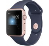 Smartwatch Apple Watch 2 Sport, Retina OLED Capacitive touchscreen 1.65inch, Bluetooth, Wi-Fi, Bratara Silicon 42mm, Carcasa Aluminiu, Rezistent la apa si praf (Roz/Albastru)