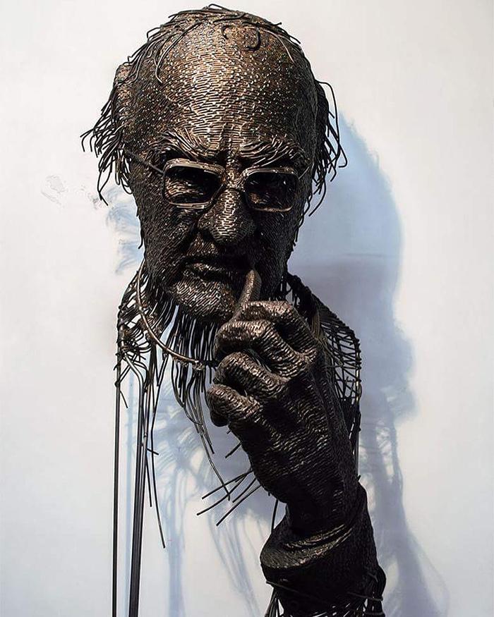 Impresionantele sculpturi din sarma ale lui Darius Hulea - Poza 7